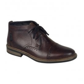 Nobel Brown Lace Up Chukka Boots 37633-25