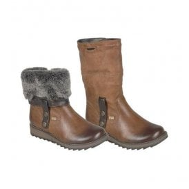Womens Eagle Brown Two-Way Waterproof Boot D8874-24