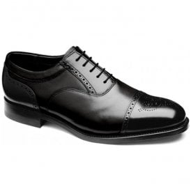 Mens Higham Black Oxford Front Brogue Shoes