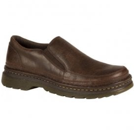 Mens Hickmire Brown Leather Slip On Shoes 21798203