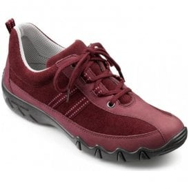 Womens Leanne Maroon Lace Up Shoes