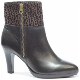 Womens Ashley Black Multi Ankle Boots 9-9-25340-27 011