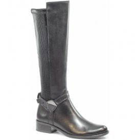 Womens Kania Black Combi High Leg Boots 9-9-25535-27 019