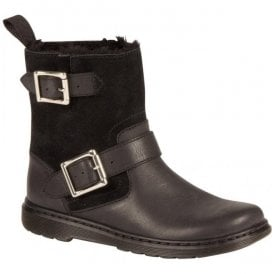 Womens Gayle Black Leather/Suede Boots 21536001