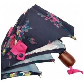 French Navy Floral Brolly Umbrella
