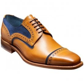 Mens Haig Cedar Calf/Blue Suede Lace Up Derby Shoes