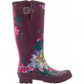 Womens Wellyprint Tall Printed Burgundy Bloom Boots
