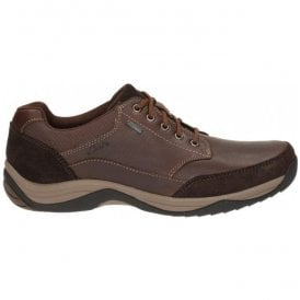 Mens BaystoneGo GTX Mahogany Leather Waterproof Casual Shoes