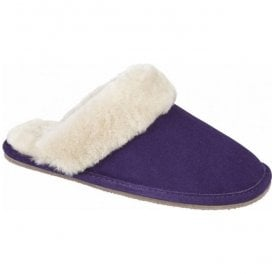 Womens Lilly Plum Mule Type Slippers