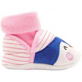 Baby Girls Penguin Nipper Slippers
