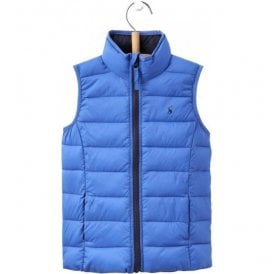 Junior Crofton Dazzling Blue Pack Away Gilet