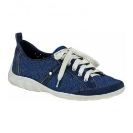 Womens Woodbridge Navy Lace Up Trainers 24011