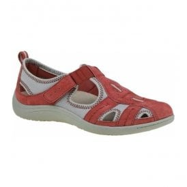 Womens Madison Red Casual Shoes 24008