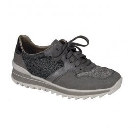Niagara Grey-Combi Lace Up Trainers M6915-42
