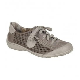 Womens Preston Grey-Combi Lace Up Trainers M3747-80