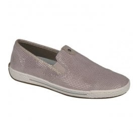 Piza Pink Casual Leather Slip On Flat Shoes L3051-31