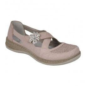 Massa Rosa Strap Over Velcro Flat Shoes 464H0-31