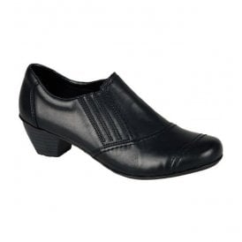 Cristallin Black Slip On Shoes 41700-00