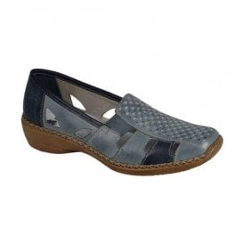 Ganges Blue Slip On Casual Shoes 41340-12
