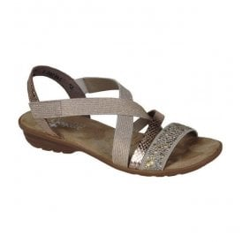 Dehlistret Beige Slip On Sandals V3463-60