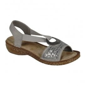 Mosambik Grey Elasticated Sandals 62809-40