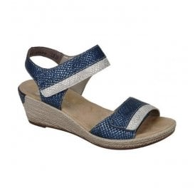 Mussurana Navy/White Strap Over Sandals 62470-14