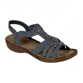 Haifa Casual Grey (Blue) Slip On Sandals 608S1-42