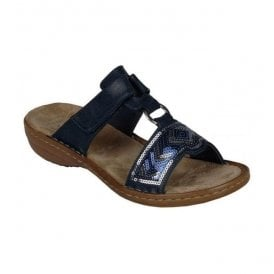 Dusty Navy Velcro Mules 608M4-14