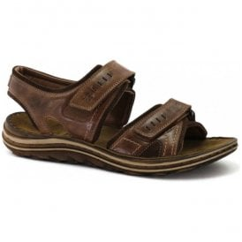 Mens Raul 19 Chesnut/Brazil Double Strap Velcro Sandals 15319 759 085