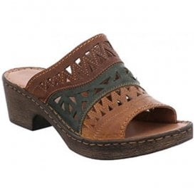 Womens Rebecca 43 Brown-Multi Mules 62943 720 301