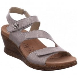 Womens Nevis 07 Platinum Triple Velcro Sling Back Sandals 20307 49 730