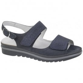 Womens Hakura Blue Velcro Sandals 351002 200 200