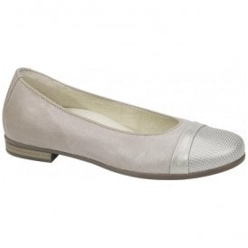 Womens Hamiki Astra Stone Leather Slip On Shoes 328004 328 070