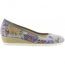 Womens Epworth Stone Floral Slip On Wedge Shoes 82.641.24