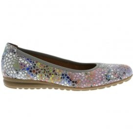 Womens Splash Stone Floral Slip On Wedge Shoes 82.620.24