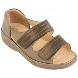 Womens Cheryl Bronze/Pewter Sandals With The Back In