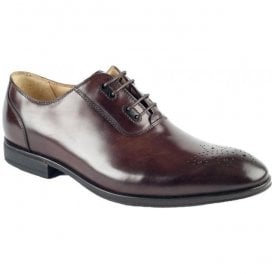 Mens Feature Brown 4 Eyelet Tie Shoes