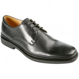 Mens Angelo Black Formal Lace Up Shoes