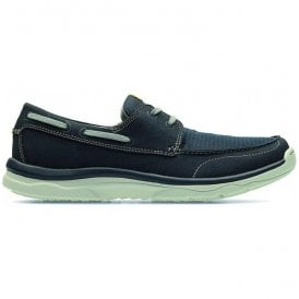 Mens Marus Edge Navy Casual Boat Shoes