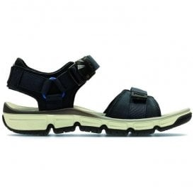 Mens Explore Part Navy Nubuck Leather Strap Sandals
