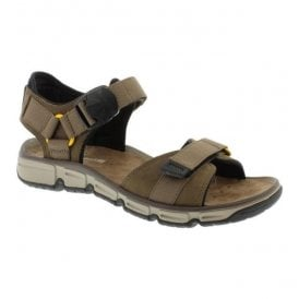 Mens Explore Part Mushroom Nubuck Leather Strap Sandals