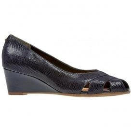 Womens Paxton Midnight Lizard Open Toe Wedge Shoe 2667440