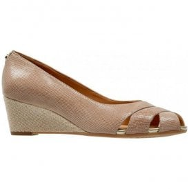 Womens Paxton Powder Lizard Open Toe Wedge Shoe 2667740
