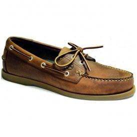Mens Creek Sand Leather Deck Shoes