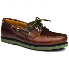 Mens Cherokee Elk Leather Deck Shoes