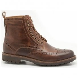 Mens Montacute Lord Dark Tan Casual Boots