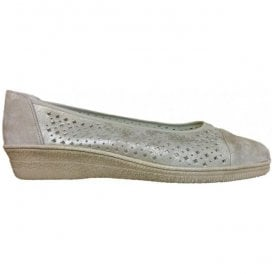 Womens Heart Metallic Mink Slip On Shoes 86.401.91