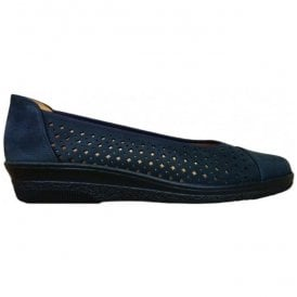 Womens Heart Navy Slip On Shoes 86.401.46