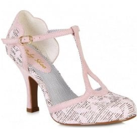 Womens Polly Pink T-Bar Court Shoes 09079