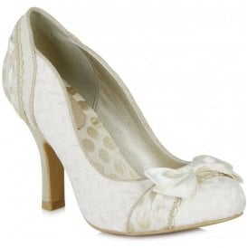 Womens Amy Cream Court Shoes 09085